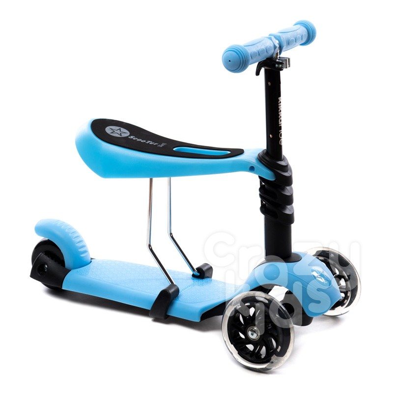 Kikka Boo Тротинетка 3в1 Ride and Skate Blue